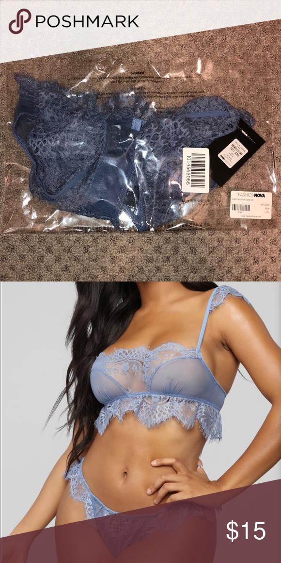 d2176d4695269 Lingerie Blue 2 piece set lingerie brand new Fashion Nova Intimates    Sleepwear Panties