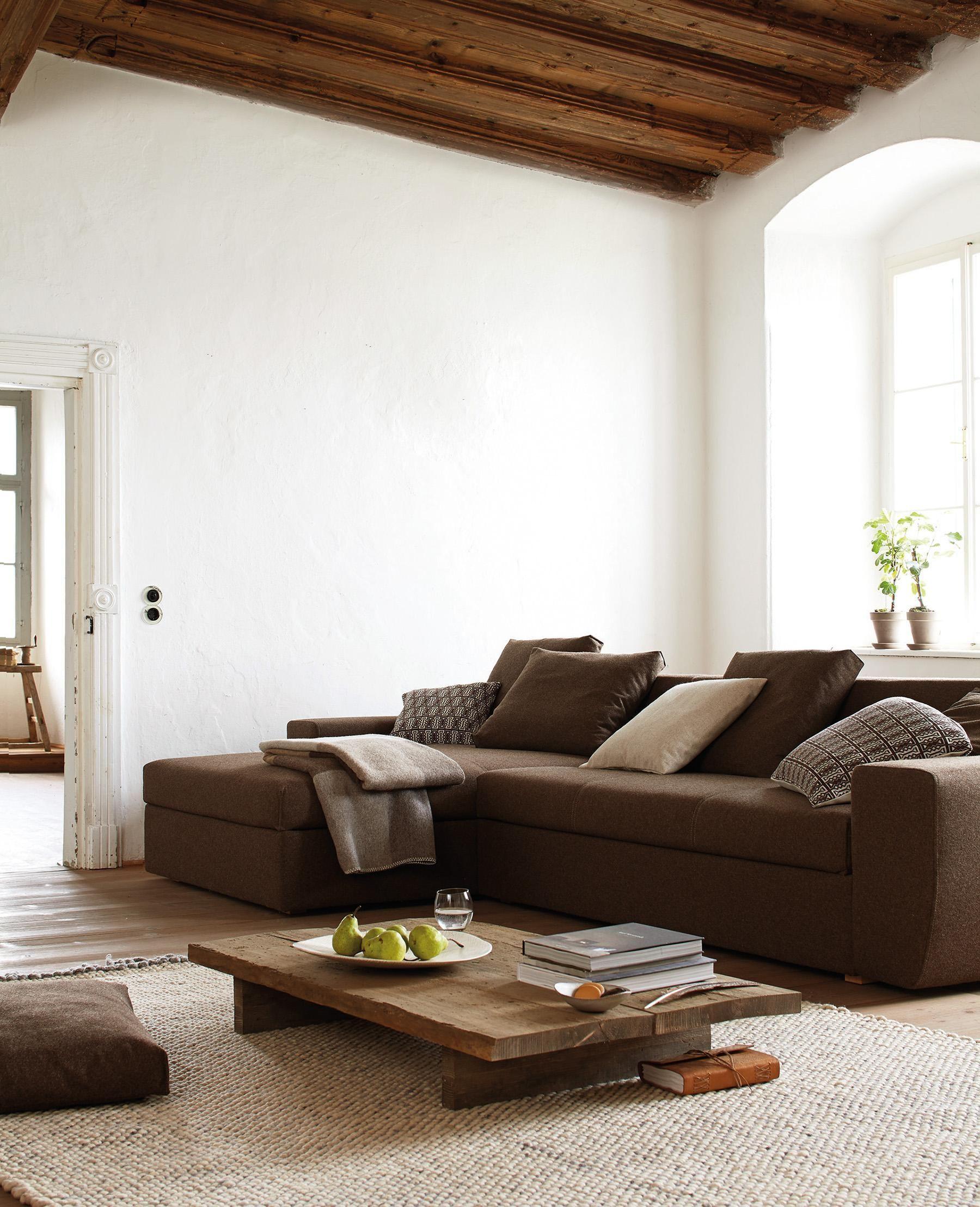 Wohnzimmer Einrichten Mit Braunem Sofa Check more at http://cakhd