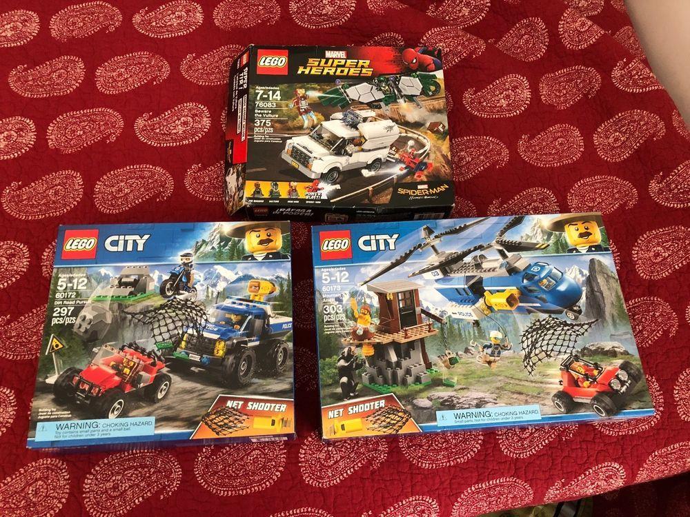 Brand New Set 3 Lego City Police Mountain Arrest 60173 Police Dirt Road 60172 Lego City Lego City Police Lego