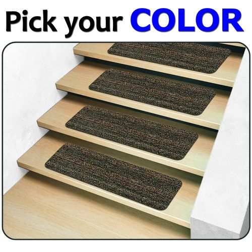 13 Indoor Outdoor Stair Treads   Non Slip Staircase Step Rug Carpet Exterior