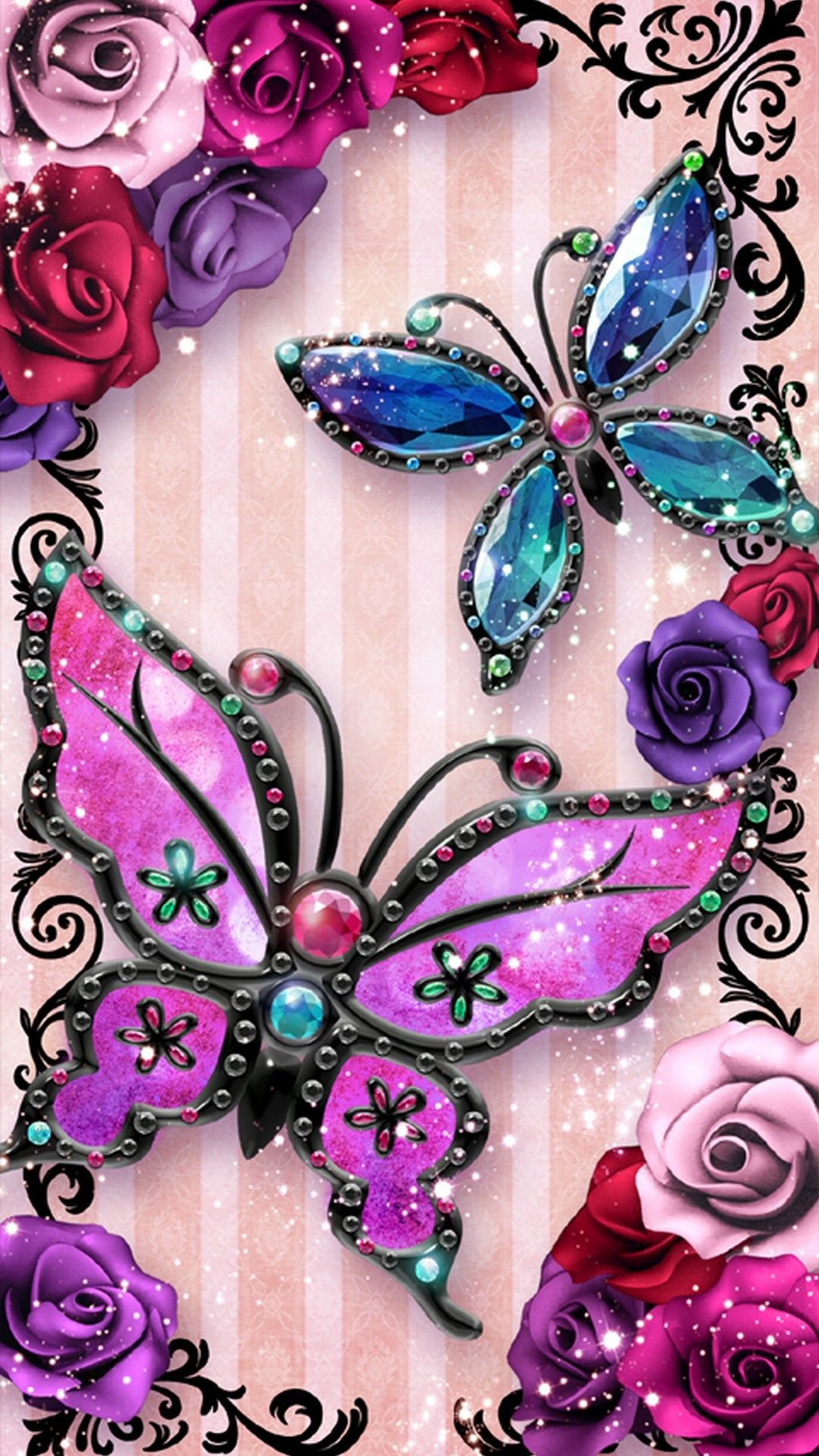 Visit Site To Download Wallpaper Cute For Iphone Backgrounds Cute Butterfly Iphone 6 Wallpaper 2019 Pink Wallpaper Iphone Butterfly Wallpaper Cute Butterfly