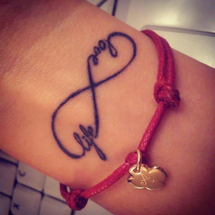Love Life Tattoo Love Life Infinity Symbol Tattoo On Wrist