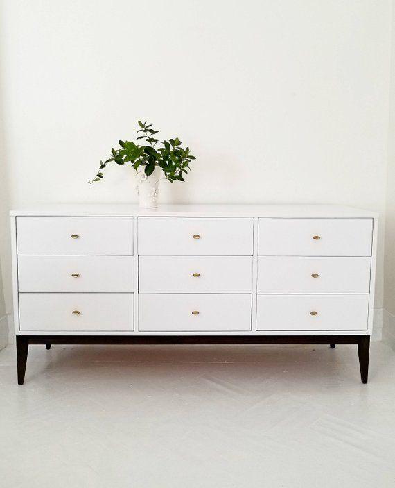 Sold Lovely Mid Century Modern Dresser Credenza Nine