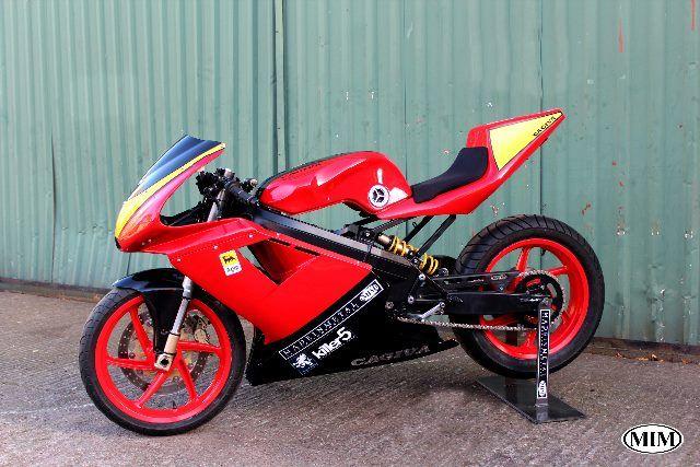 Cagiva Mito with a 500cc Kawasaki 2 stroke engine installed.