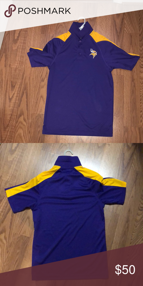 online retailer 07e0f c4cde M Minnesota Vikings polo. NFL apparel team shop. Brand new ...