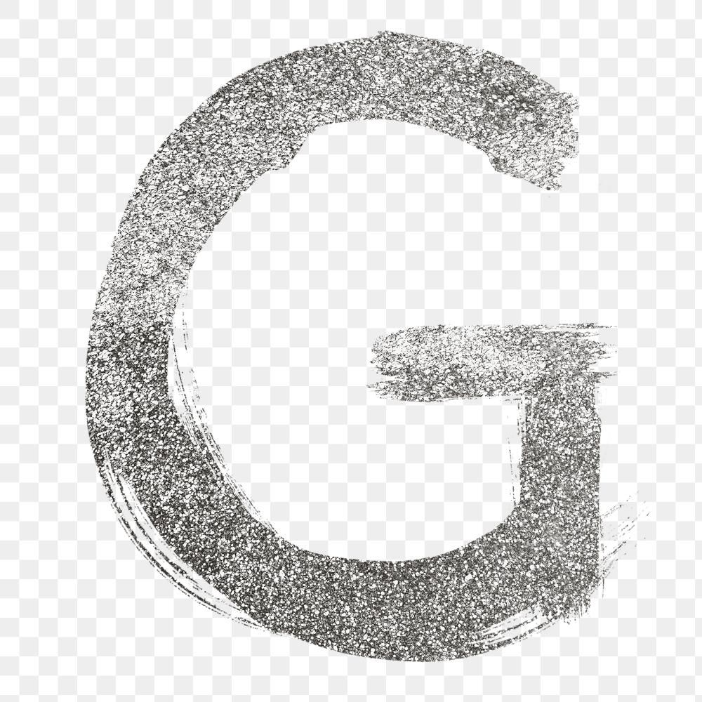 Letter G Png Silver Glitter Brushed Typography Free Image By Rawpixel Com Hein Typography Silver Glitter Png