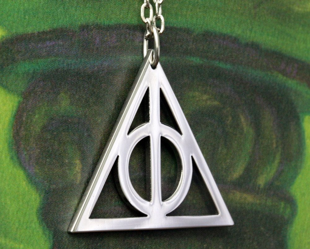 Harry Potter Deathly Hallows Symbol Pendant Necklace.