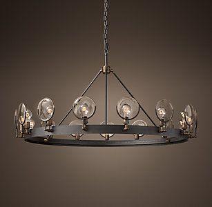Gaslight lens chandelier 42 54 entry fireplace fm 16 gaslight lens chandelier 42 54 entry fireplace mozeypictures Gallery