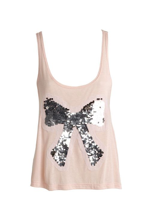 dELiAs   Sequin Bow Tank   just in   shop by category   tops  f731b2878