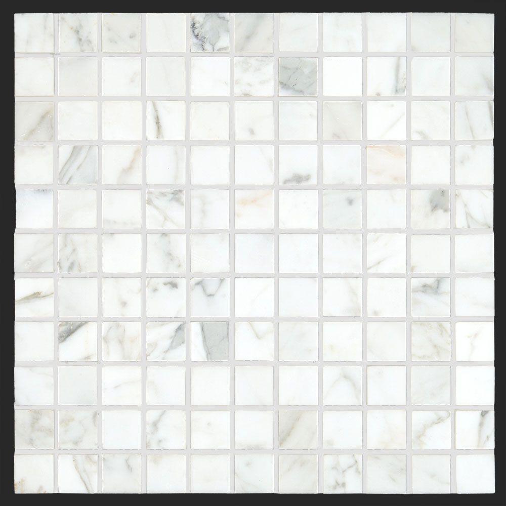 Bianco carrara 1x1 honed marble square mosaic tile nf bath bianco carrara 1x1 honed marble square mosaic tile dailygadgetfo Images