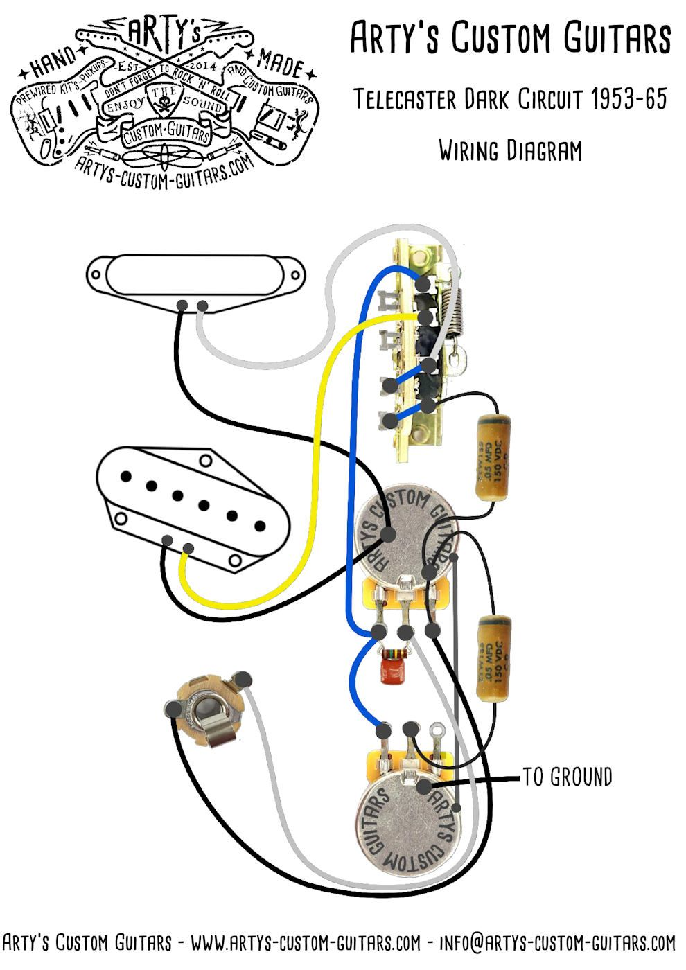 [SCHEMATICS_43NM]  PREWIRED KIT 1953-65 TELE | Telecaster, Telecaster guitar, Custom guitar  picks | Vintage Telecaster Wiring Harness Kit |  | Pinterest