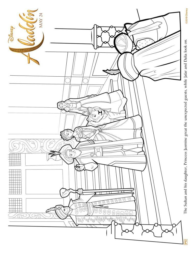 Aladdin Free Coloring Sheets To Print From Home From Disney Free Coloring Sheets Disney Coloring Sheets Coloring Sheets