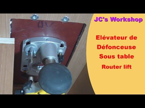 Diy travail du bois lvateur de dfonceuse sous table router diy travail du bois lvateur de dfonceuse sous table router lift youtube greentooth Gallery