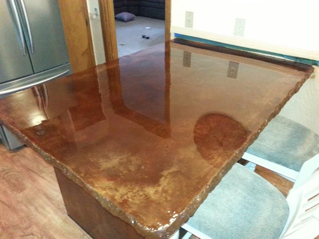 Superbe Concrete Countertop Colored Concrete With Epoxy Sealer