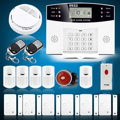 J1 Wireless Gsm Sms Home Security Burglar House Fire Alarm System Auto Dialer Us Fire Alarm System Security Cameras For Home Home Security