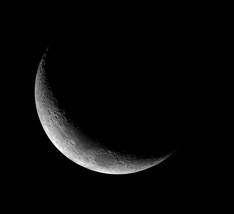 Dernier Croissant De Lune Croissant De Lune Clair De Lune Lune
