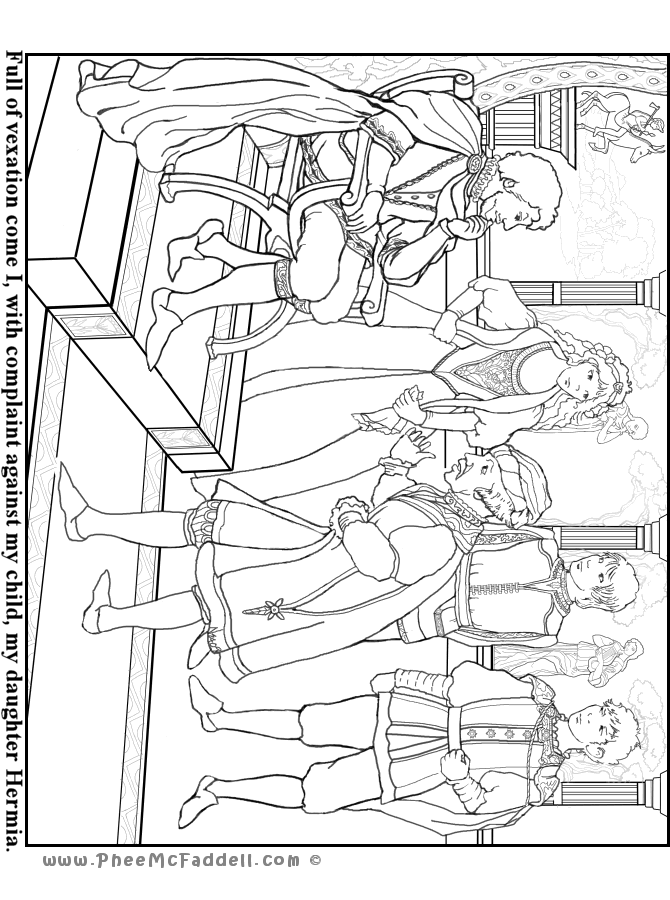Theseus Egeus Hermia Mid Summer Night's Coloring Pages ...