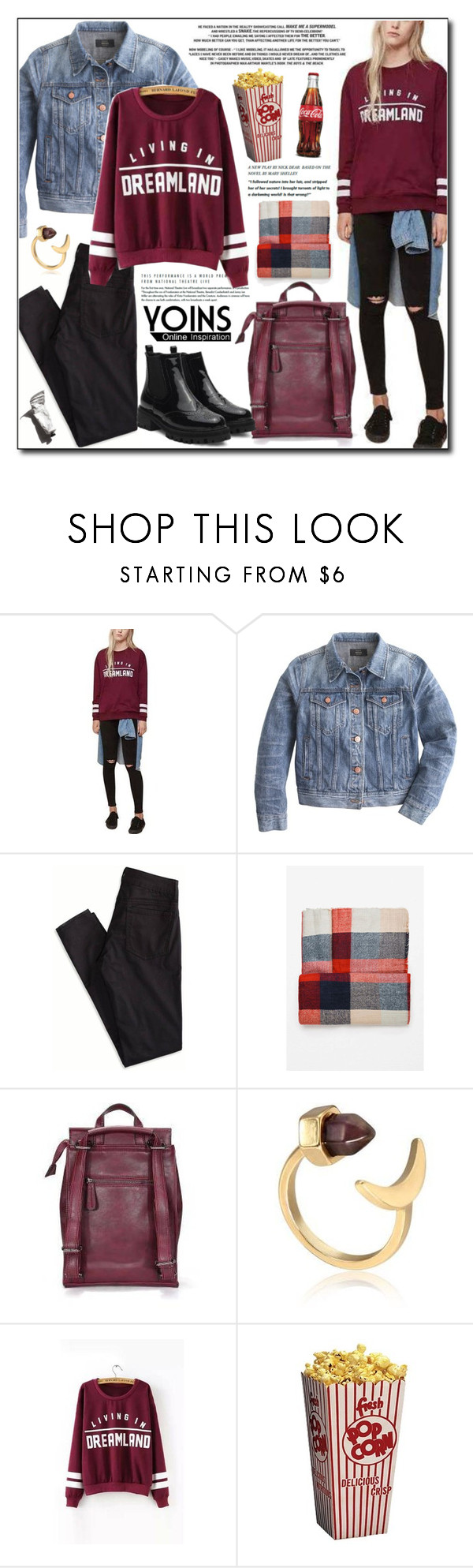 """#247"" by adnaaaa ❤ liked on Polyvore featuring J.Crew, American Eagle Outfitters, Garance Doré, women's clothing, women's fashion, women, female, woman, misses and juniors"