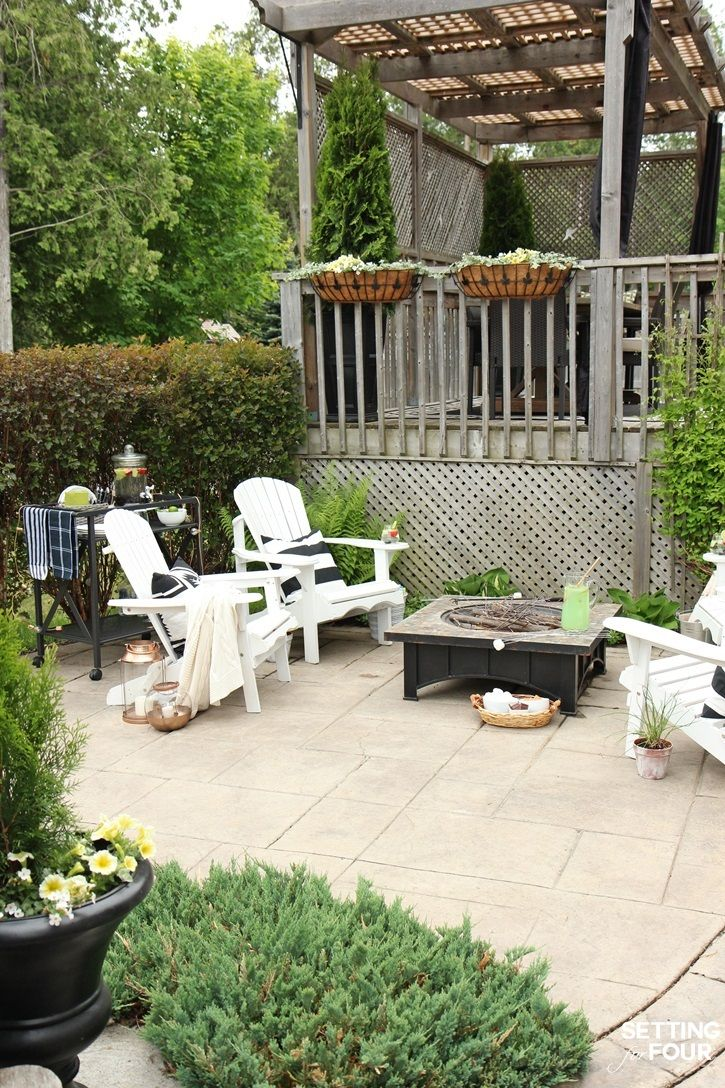 See My Outdoor Fire Pit Seating Area, The DIY Adirondack Chairs My Family  Loves To