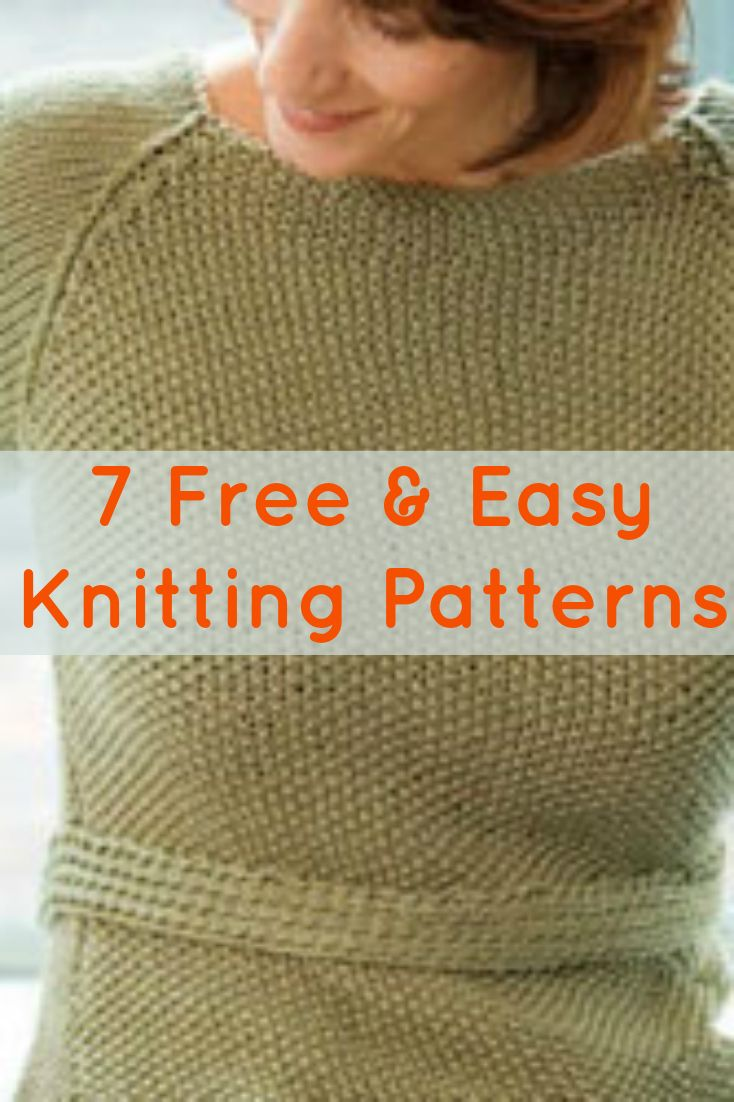 Free Knitting Patterns You Have to Knit | Easy knitting projects ...