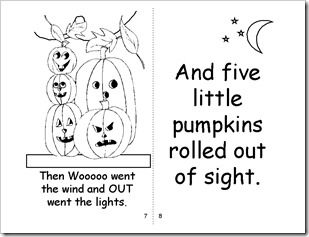 image regarding 5 Little Pumpkins Printable called 5 minor pumpkins printable e book Autumn/Halloween