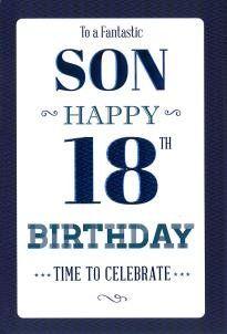 Son 18th Birthday Card Icg Https Www Amazon Co Uk Dp B01066q1qo Ref Cm Sw R Pi Dp 4 4lxb9ftecej 18th Birthday Cards Birthday Cards 18th Birthday