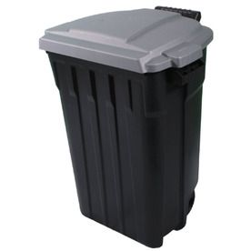 Outdoor Trash Can With Wheels Pleasing $20 Lowes Incredible Plastics 32Gallon Outdoor Garbage Can  House Design Inspiration