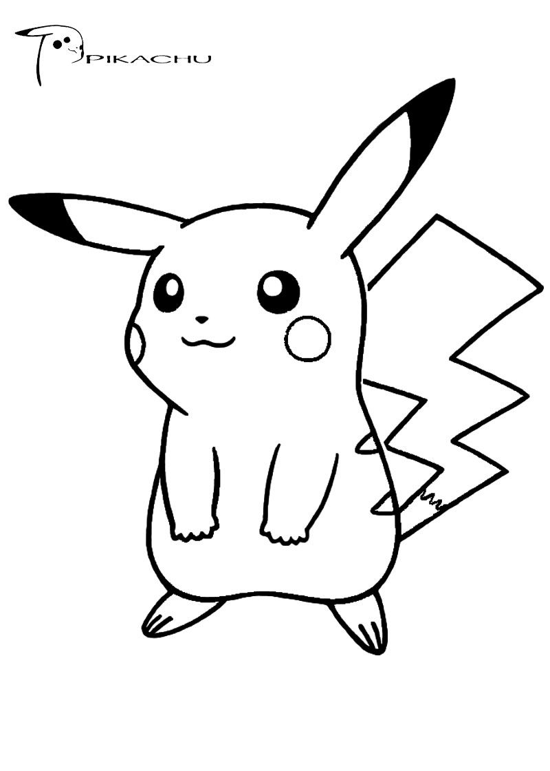 Coloring pages of pikachu - Pokemon Coloring Pages Pikachu Cute