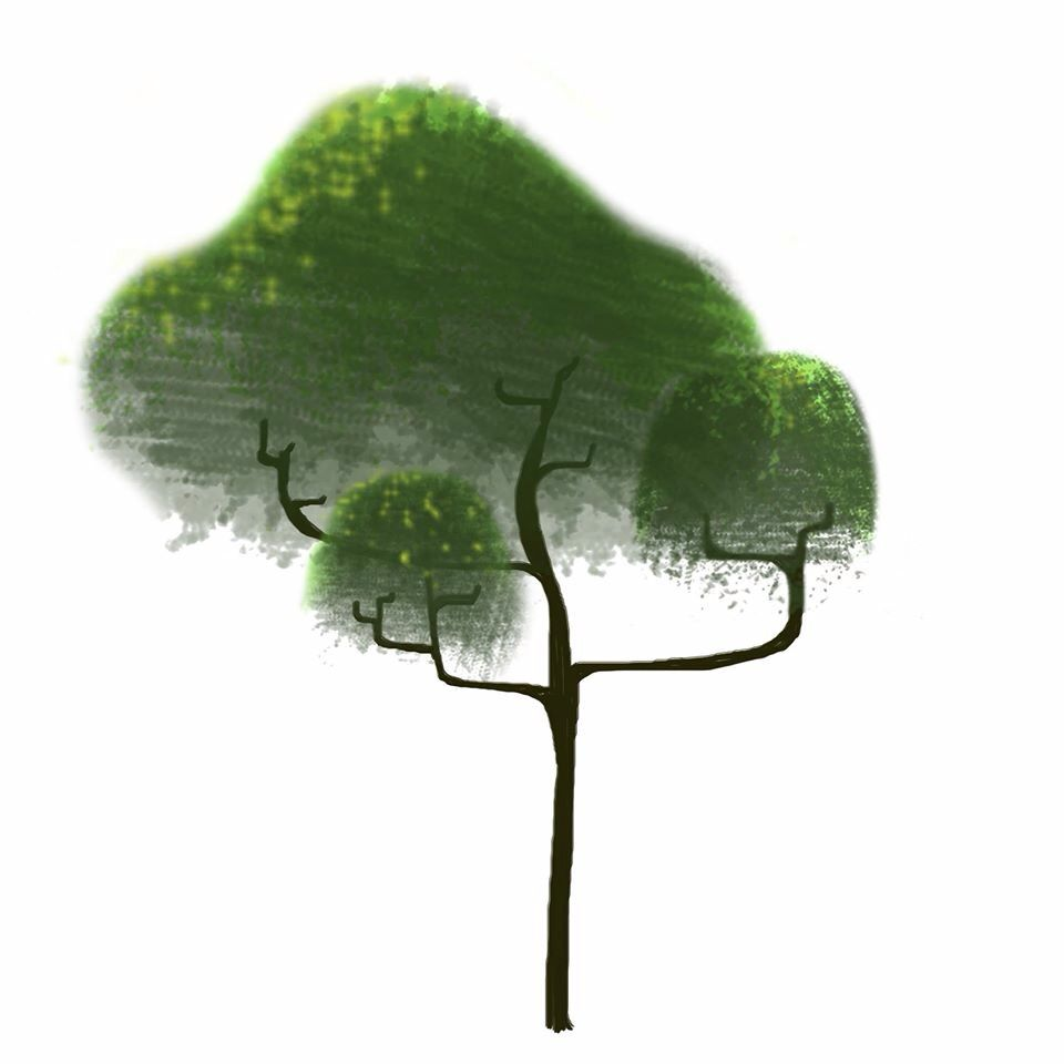 Trying something new! Making trees with Photoshop.