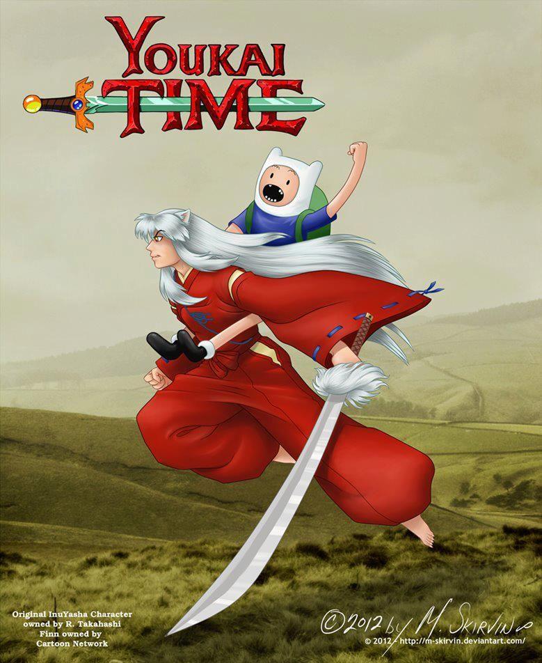 Adventure Time Inuyasha Deviant Cartoon Edits Inuyasha Anime