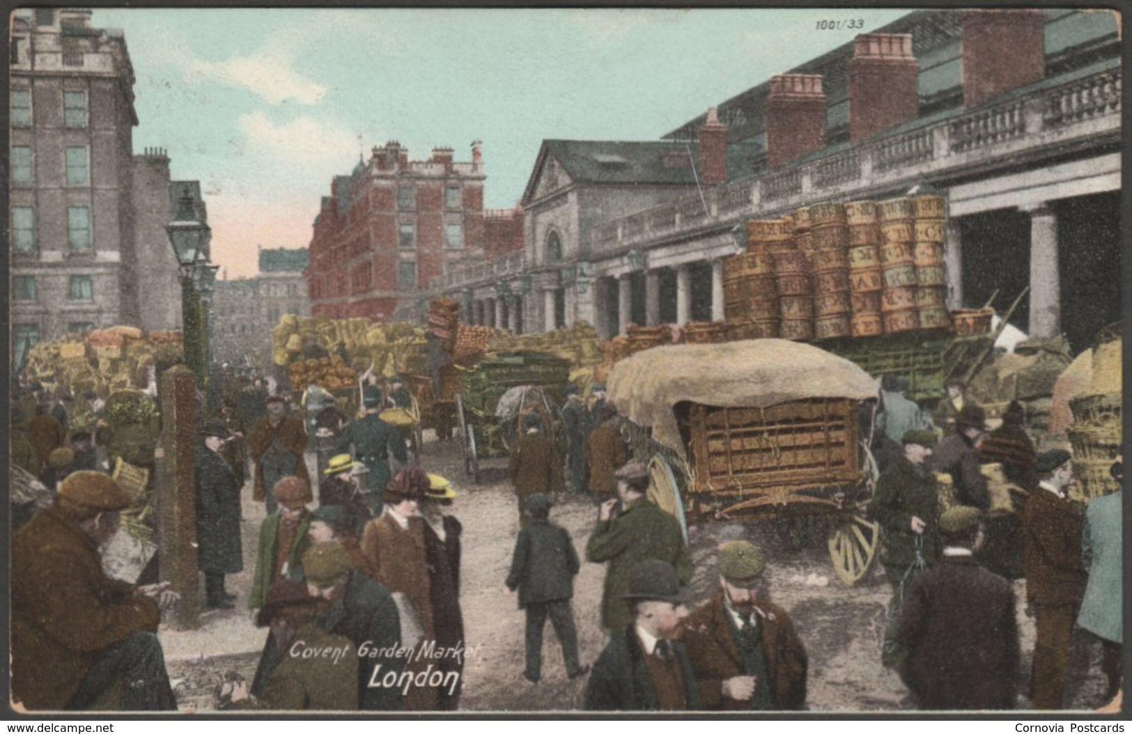 Covent Garden Market, London, 1908 Hartmann Postcard