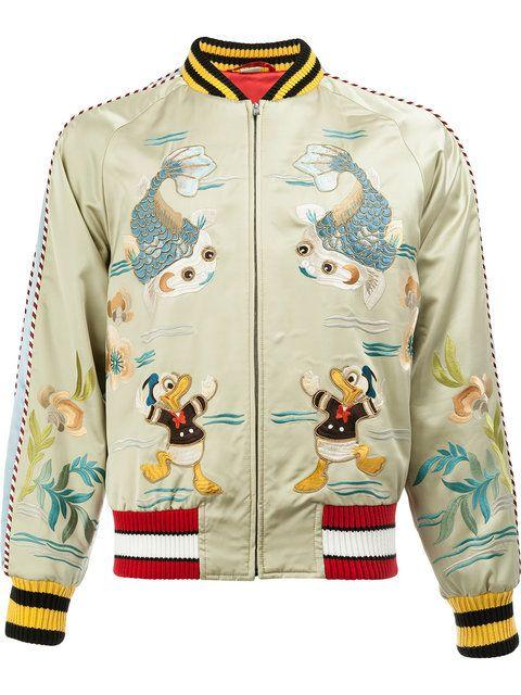 345feae506ea Shop Gucci Donald Duck bomber jacket. | ROPA | Bomber jacket, Gucci ...