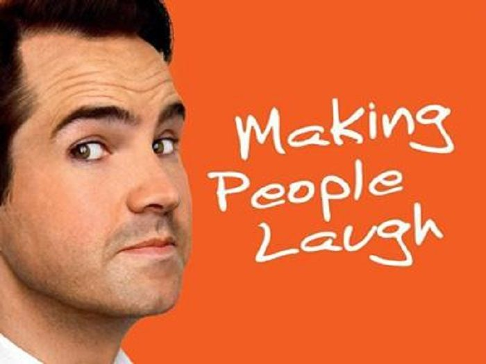 Jimmy Carr: Making People Laugh (2010)  Dir: Paul Wheeler Stars:  Jimmy Carr  Jimmy Carr is the hardest working comedian in Britain. He has sold over a million of DVDs and played in front of millions of people on tour. Making People Laugh is his most outrageous stand up act.  Watch it here: http://www.watchfree.to/watch-290a07-Jimmy-Carr-Making-People-Laugh-movie-online-free-putlocker.html