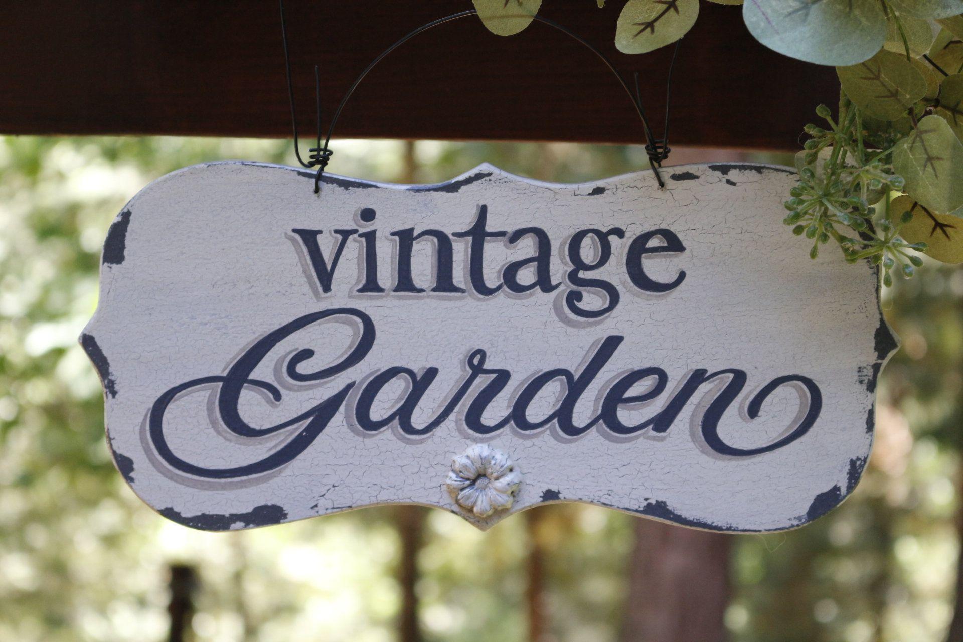 Garden Sign Personalized Garden Sign Flower Garden Sign Rustic Garden Sign Custom Garden Sign Vintage Garden S Garden Signs Rustic Gardens Vintage Garden Decor