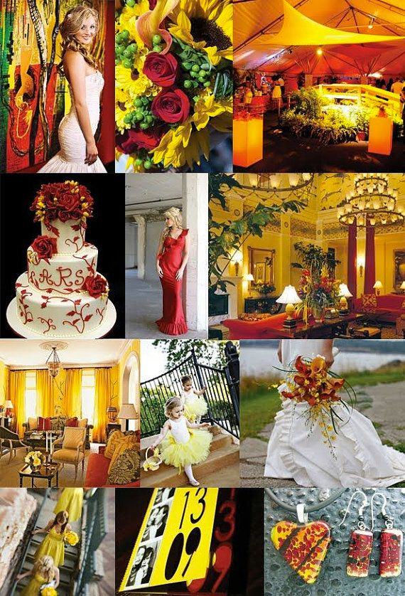 Yellow And Red Wedding