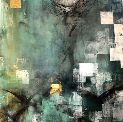 Co-Existence 2 Judith Kruger Nihonga painting