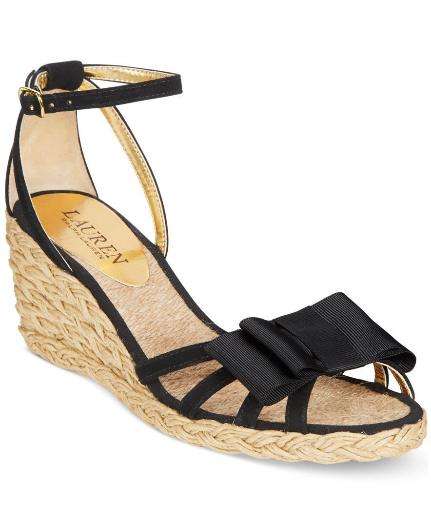 17f02bfdefe Lauren Ralph Lauren Claudie Wedge Espadrille Sandals | My weakness ...