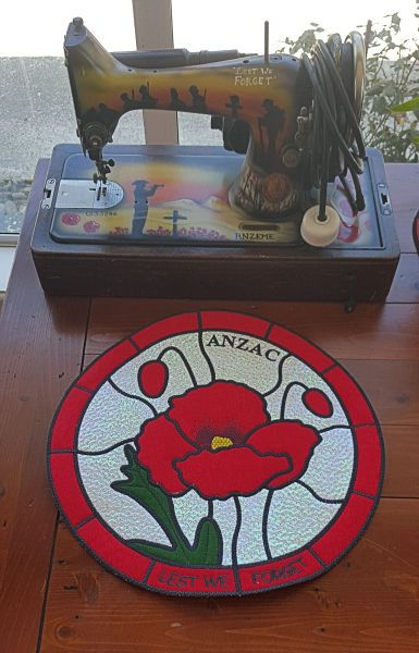 Stained Glass Collection - Poppy. Kreative Kiwi Embroidery. War ...