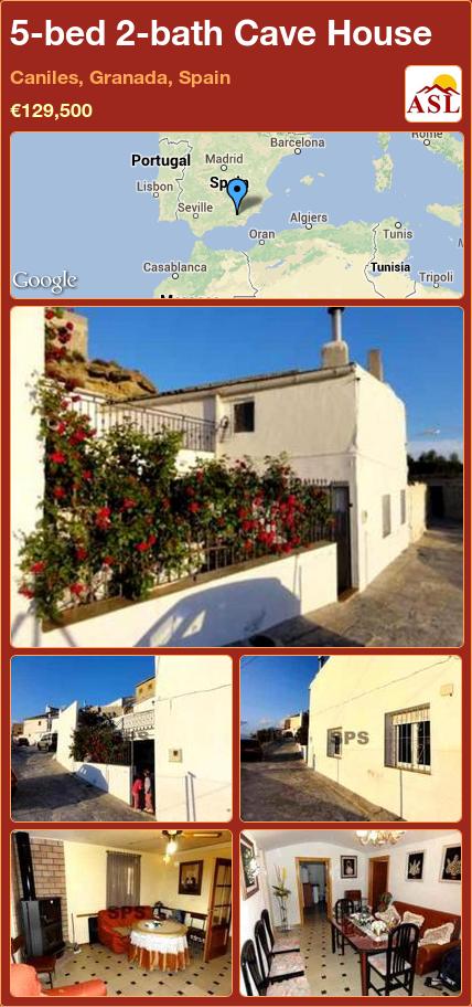 5 Bed 2 Bath Cave House In Caniles, Granada, Spain ▻u20ac