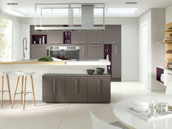 küchengestaltung ideen modern weiß grau | Ideen rund ums Haus ... | {Küchengestaltung 5}