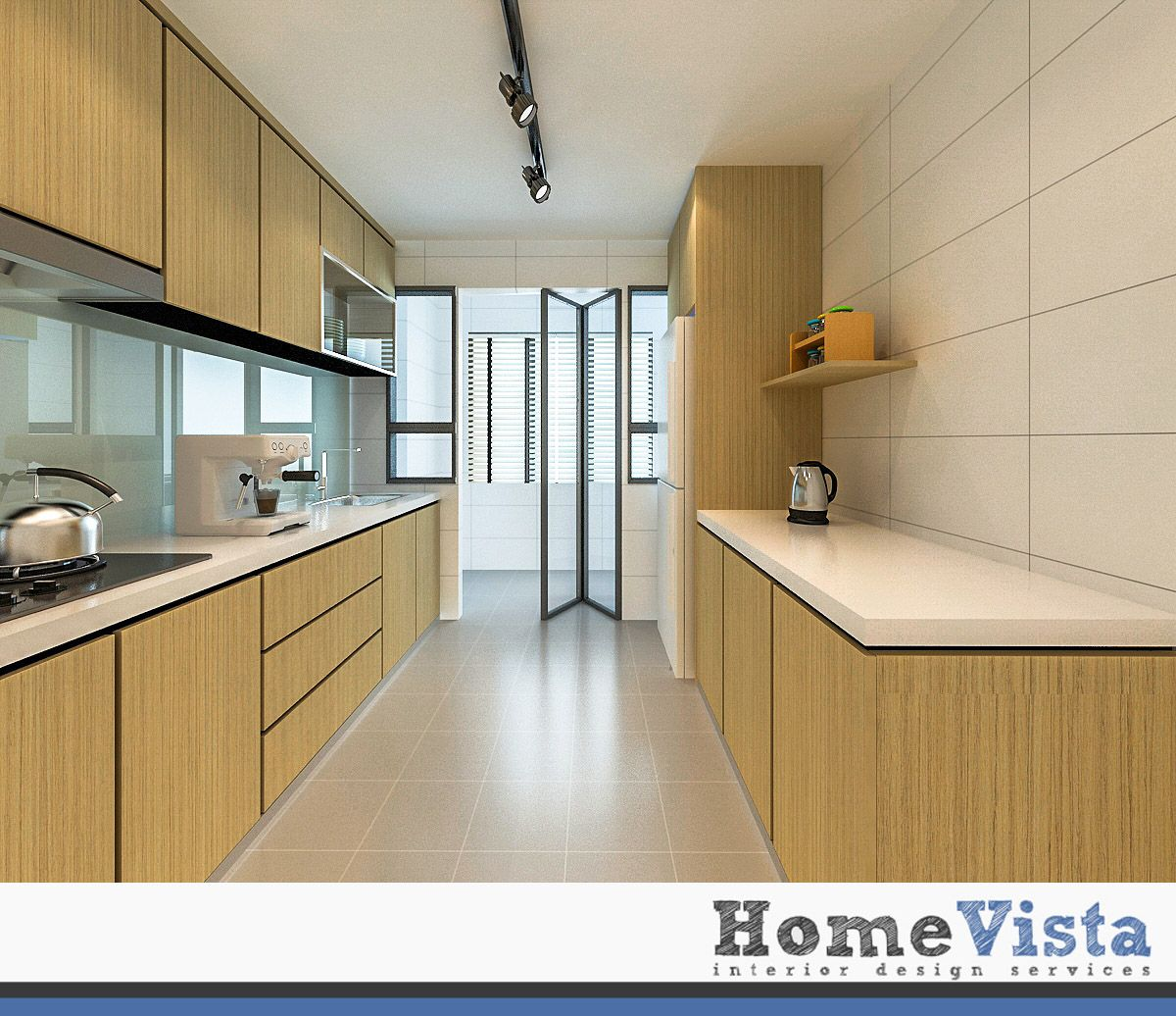 4 room hdb bto - punggol bto - homevista | kitchen design ideas in