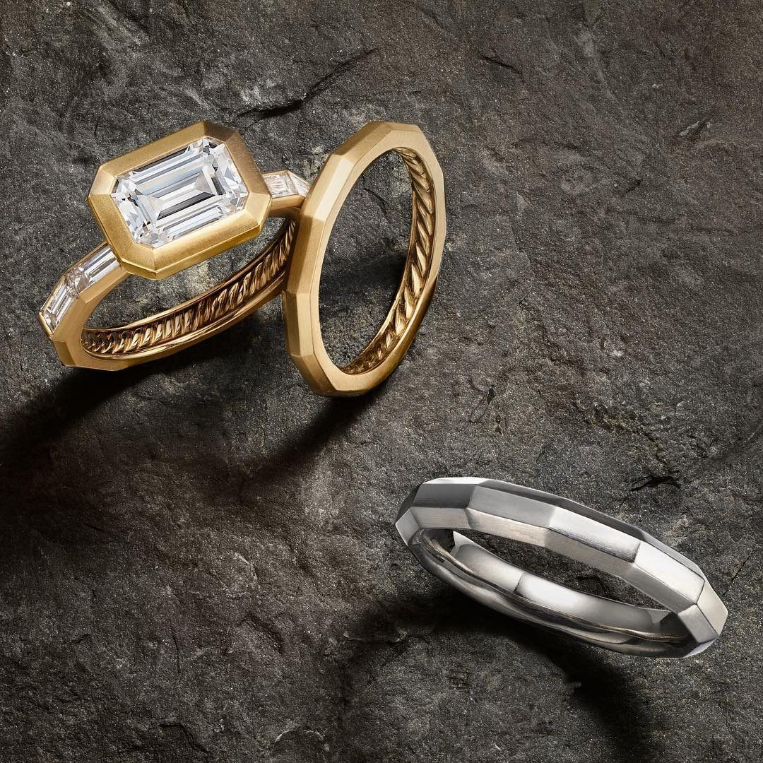 David Yurman Delaunay Engagement Ring And Wedding Bands By David