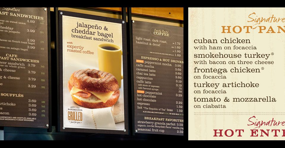 photograph about Panera Printable Menu referred to as Mitre Business - Panera Bread - Menu Board Mitre Branded