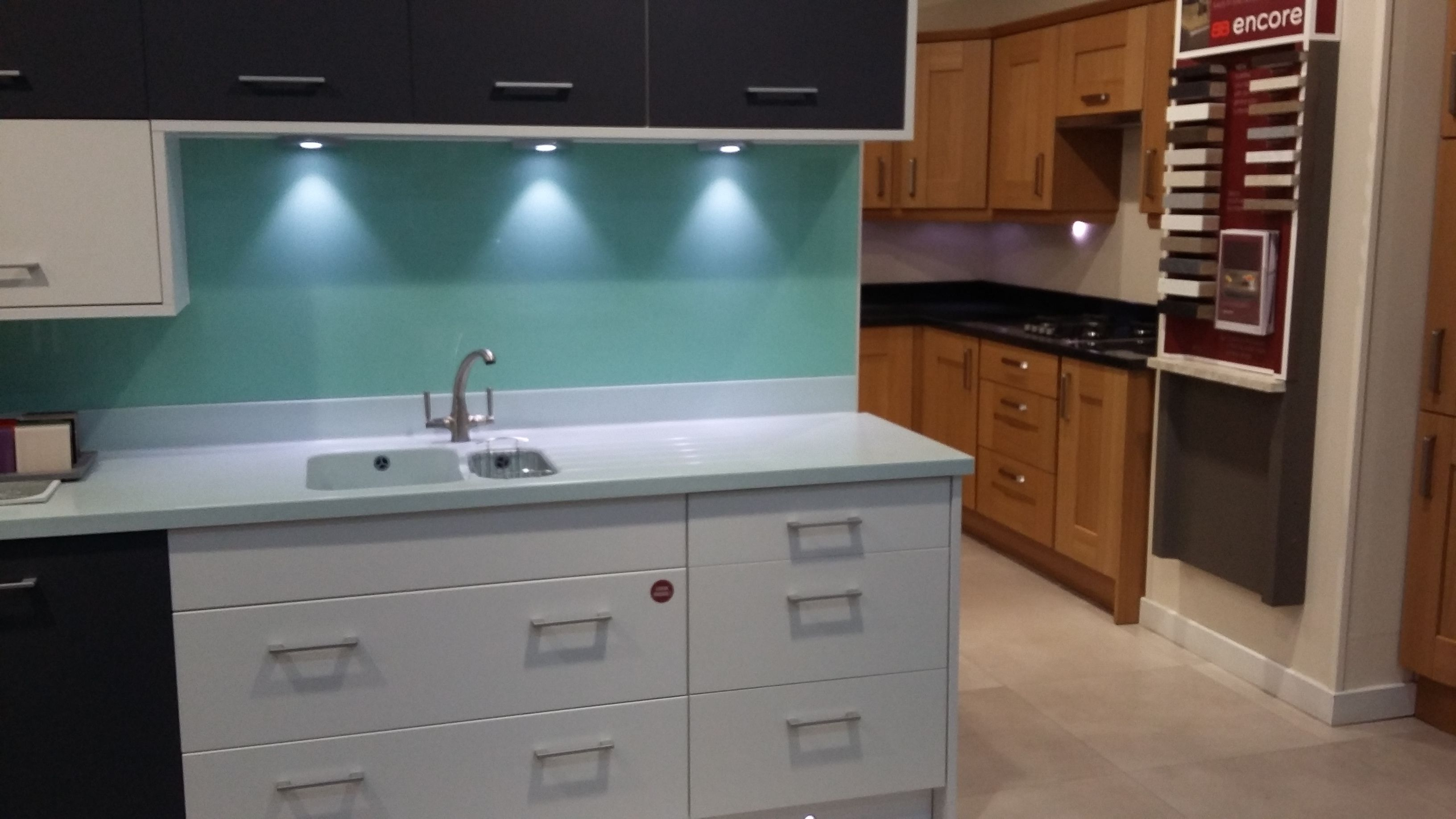 BY DESIGN Oban White and Painted Anthracite Kitchen with Corian (TM ...