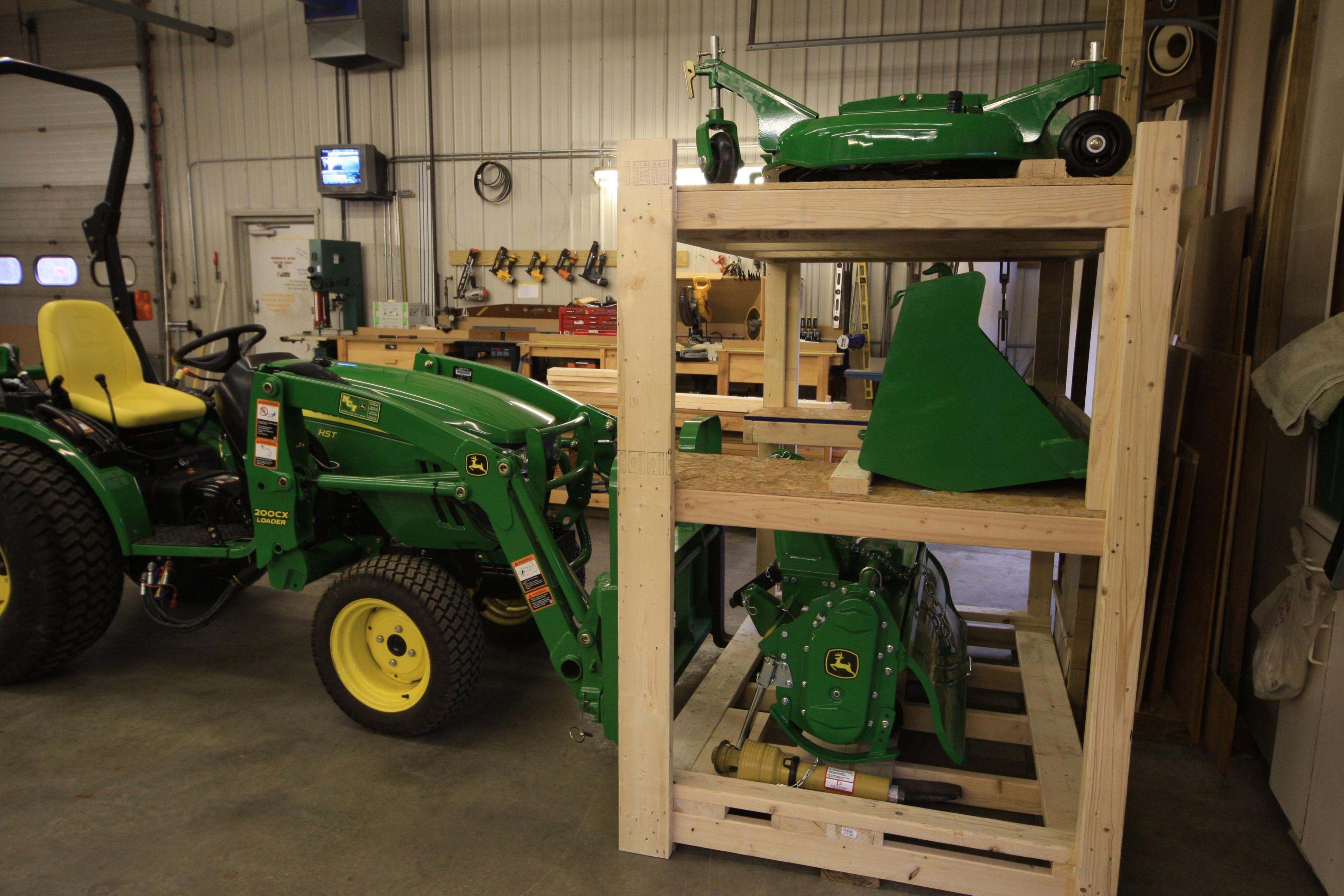 Implement Storage Rack In 2020 Deere Traktor