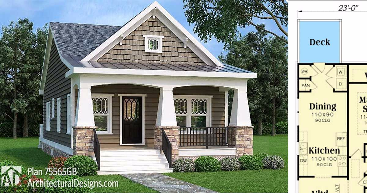 7 Craftsman Style Inspired Floor Plans That Prove You Can Live The Dream Bungalow Style House Plans Craftsman House Plans Craftsman House