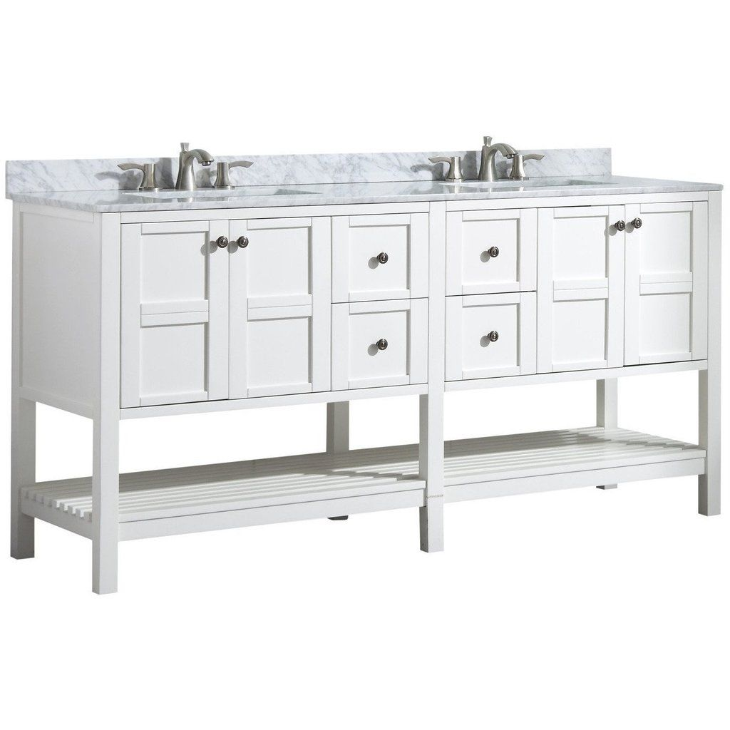 Anzzi Montaigne 72 X 35 Rich White Double Bathroom Vanity Set V Mgg011 72 Vanity Set Vanity 72 Bathroom Vanity