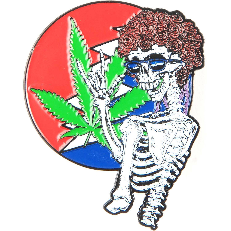 Die Cut Skeleton Weed Bolt Logo Background (1.5 Inches)