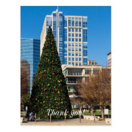 Christmas Downtown Dallas Postcard - merry christmas postcards