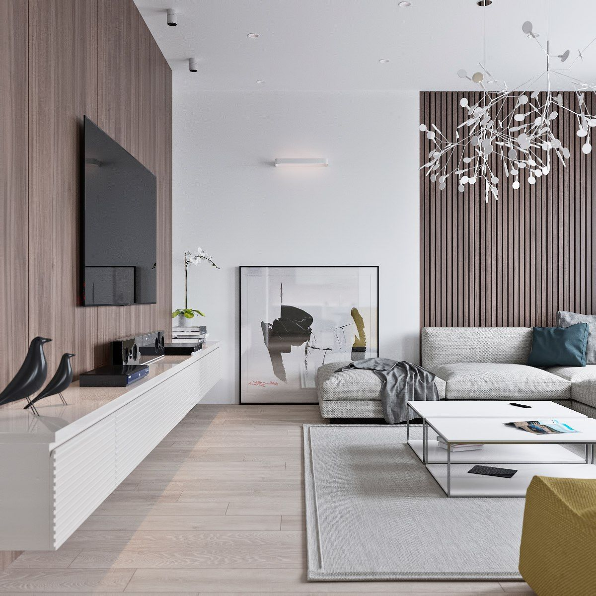 3 Light Interiors With Creative Pops Of Color Living Room